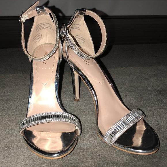 aed4ff1ba Aldo Shoes - Aldo Sevoredia Heels in Silver
